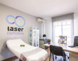 consulta de laser definitive preparada para una sesión